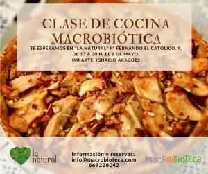 curso de cocina macrobiotica macrobioteca zaragoza