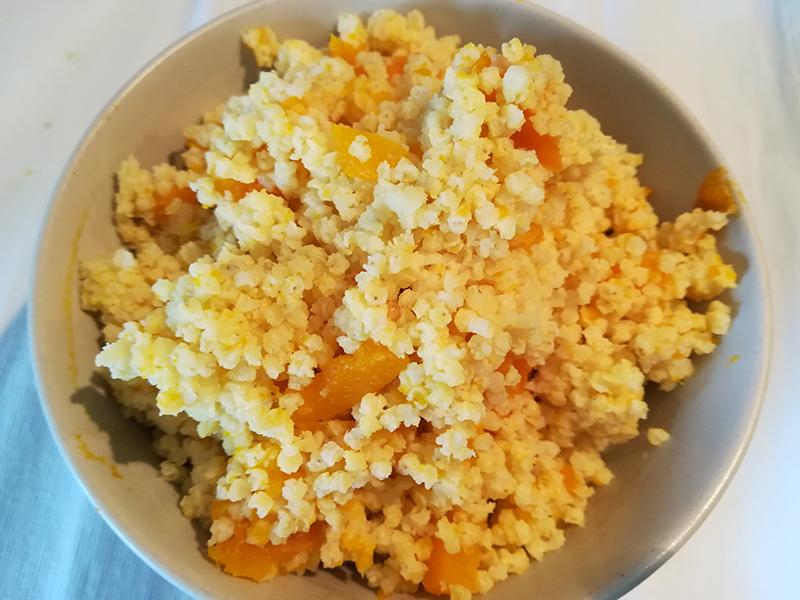 receta mijo con calabaza macrobiotica